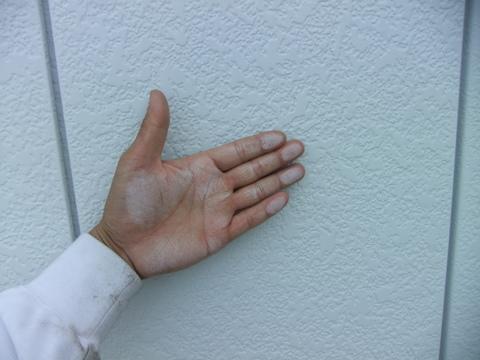外壁塗装 施工前 チョーキング現象