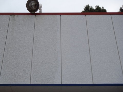 外壁塗装 水洗い前後