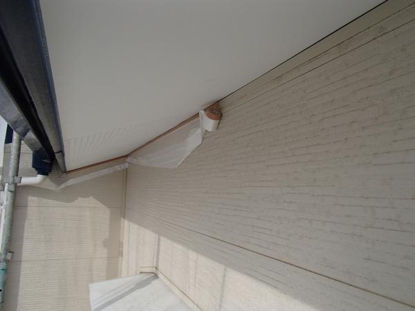 軒天塗装 外壁養生