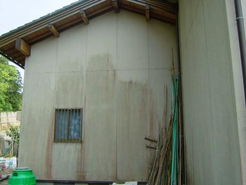 外壁塗装 リシン 高圧洗浄前