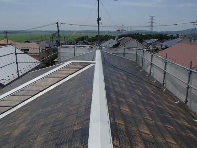 下塗り2回目完了 屋根塗装 コロニアル