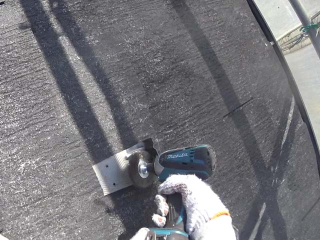 屋根塗装 カラーベスト 雪止め ステンレス 目荒らし