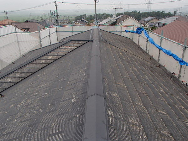 カラーベスト 屋根塗装 水洗い前