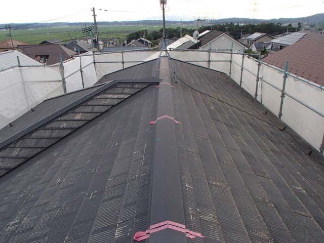 屋根塗装 棟包み ジョイント